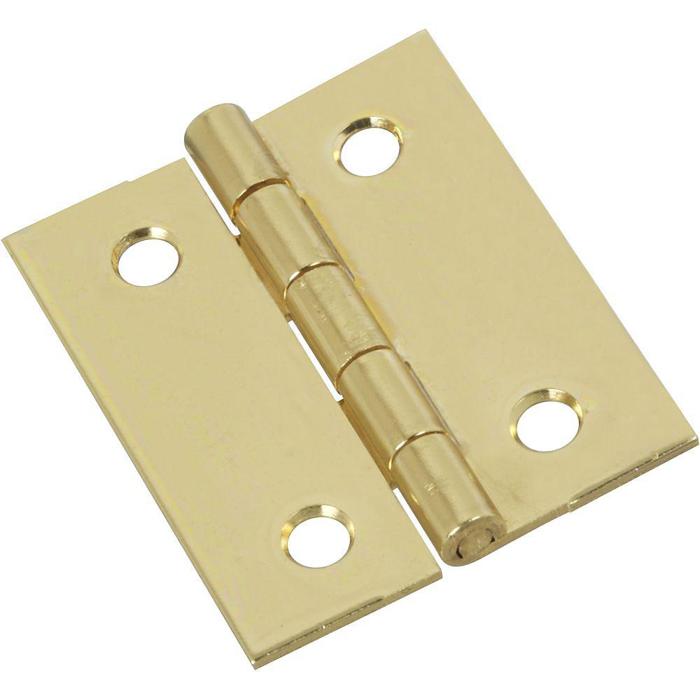 "Shutter Hinges - Brass - 1.25"" Inches x 1.50"" Inches - 2 Pack"