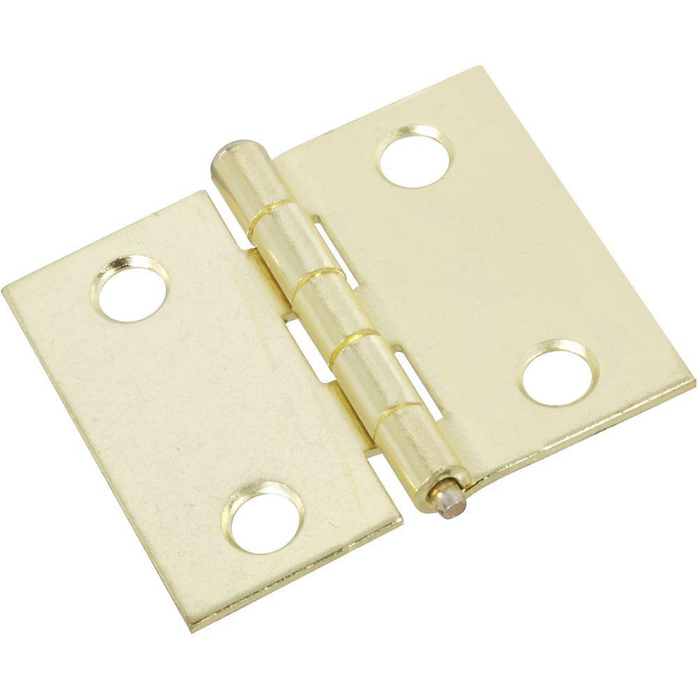 "Shutter Hinges - Brass - 1.80"" Inches x 1.50"" Inches - 2 Pack"