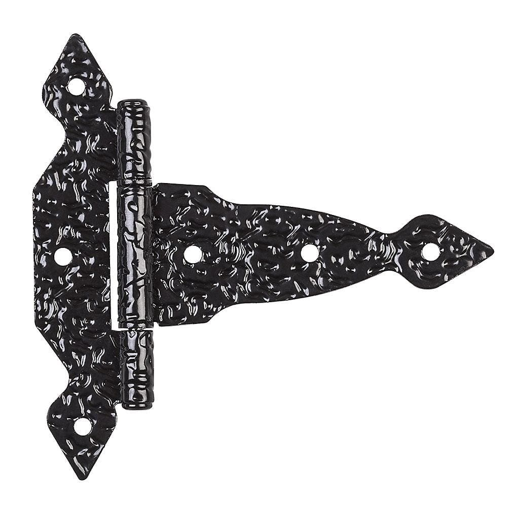 Spear T Hinges - Black - 4 to 8 Inches - Sold Individually