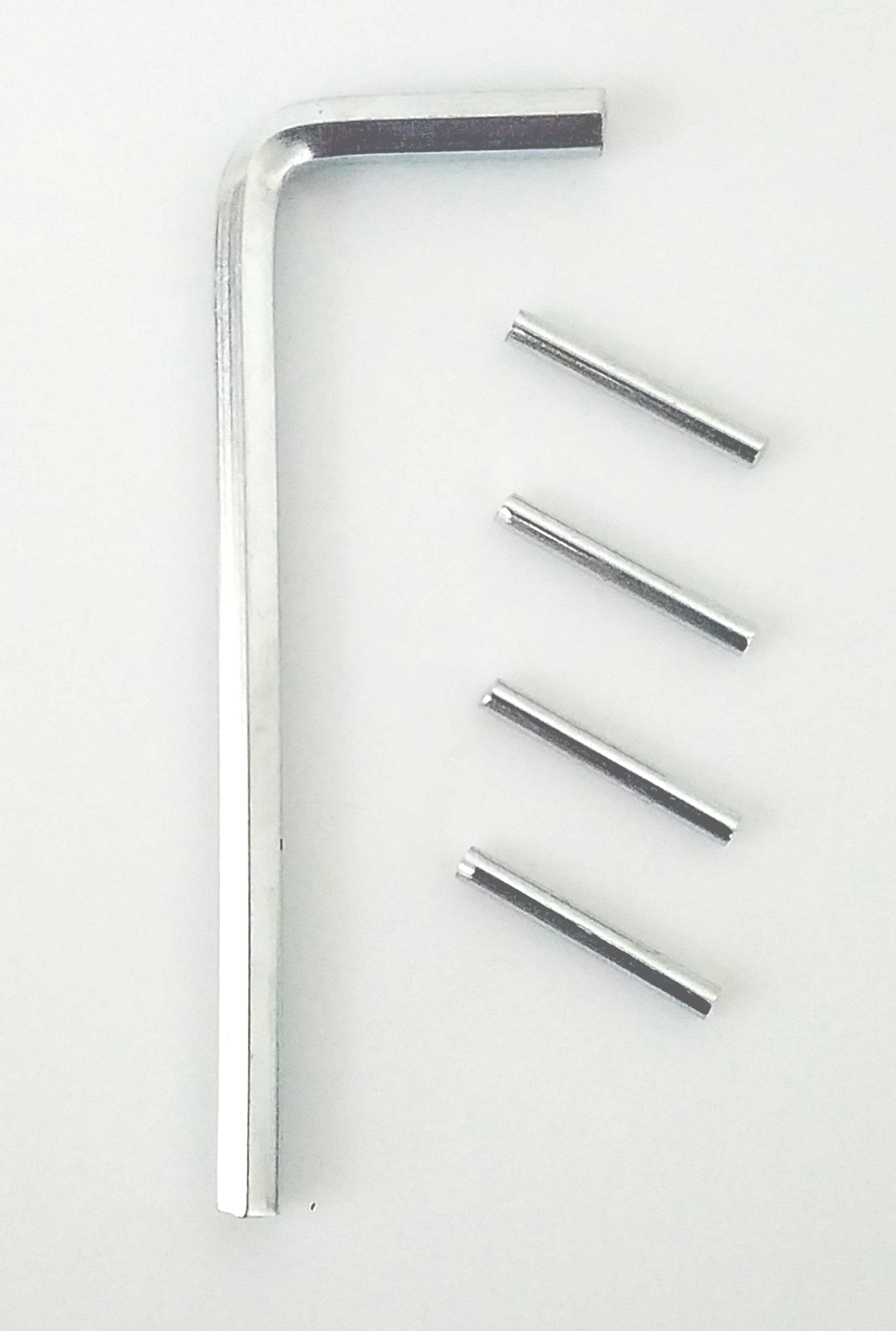 Spring Hinge Tension Pin Replacement Kit with Hex Wrench - 4 Pack