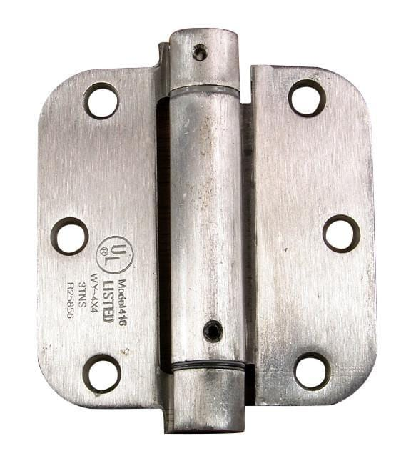 "Residential Spring Loaded Hinges - 3 1/2"" with 5/8"" radius corner - Self Closing - Multiple Finishes Available - 2 Pack"