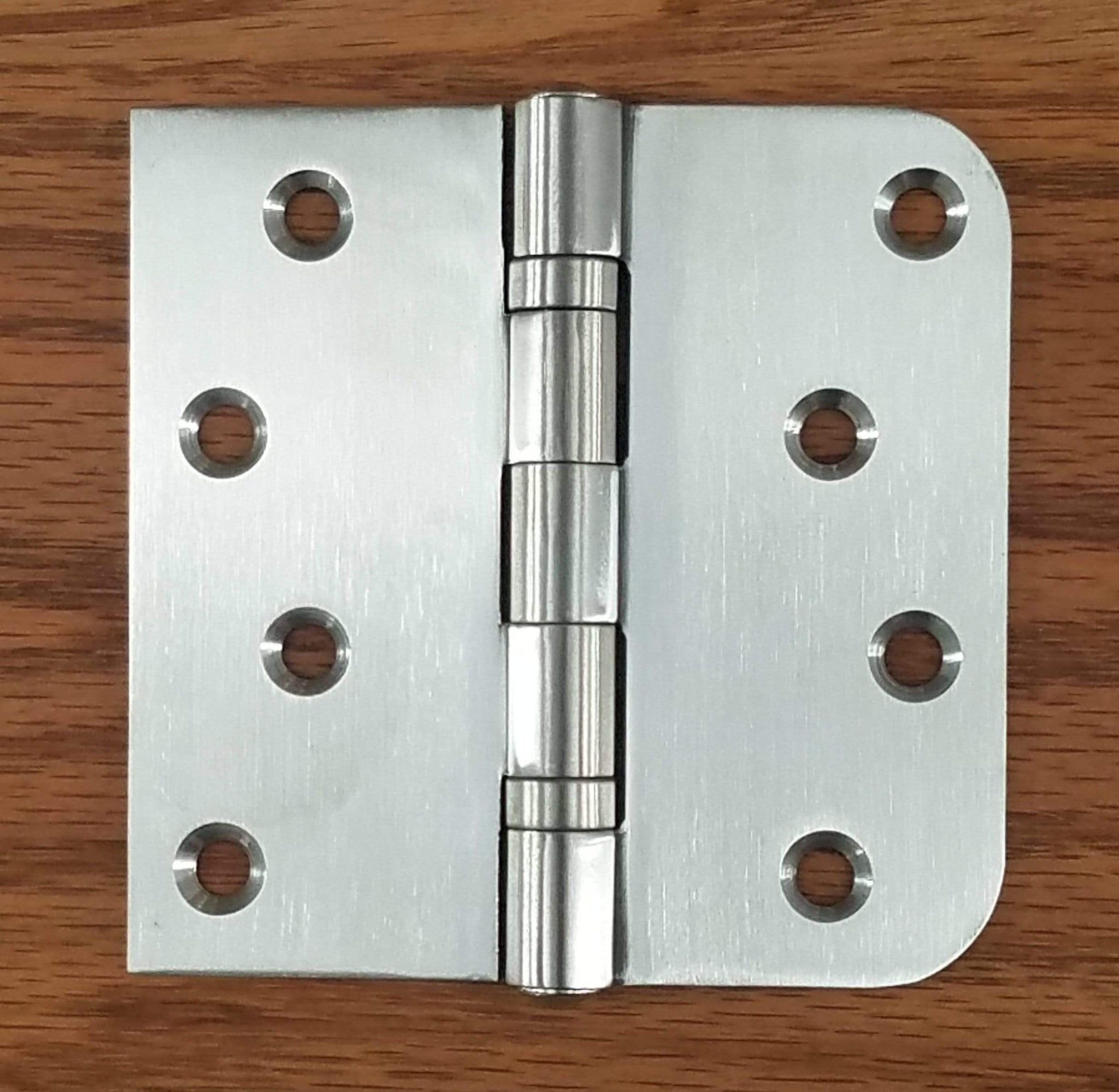 Stainless Steel Ball Bearing NRP Hinges Pack of 3 4 X 4 with 5//8 Radius Corner