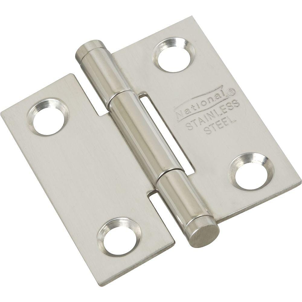 "Stainless Steel Butt Hinge - 1.5"" Inch Square - Rust Resistant - 2 Pack"