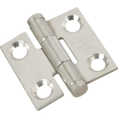 "Stainless Steel Butt Hinge - 1"" Inch Square - Rust Resistant - 2 Pack"