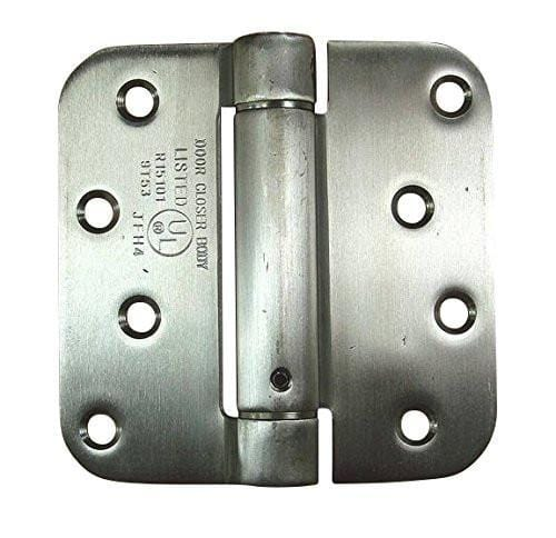 "Stainless Steel Spring Hinges - 4"" with 5/8"" radius corner - 2 Pack"