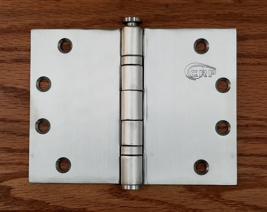 "Wide Throw Hinges - Stainless Steel - 4.5"" x 6"" - Full Mortise - Standard Weight - Ball Bearing - Sold Individually"