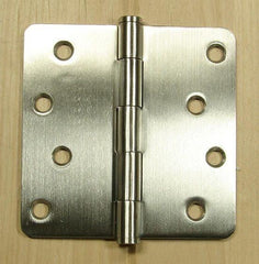 "Stainless Steel Hinges Residential Hinges- 4"" x 4"" Plain bearing with 1/4"" radius corners - Sold in Pairs - Stainless Steel Hinges"