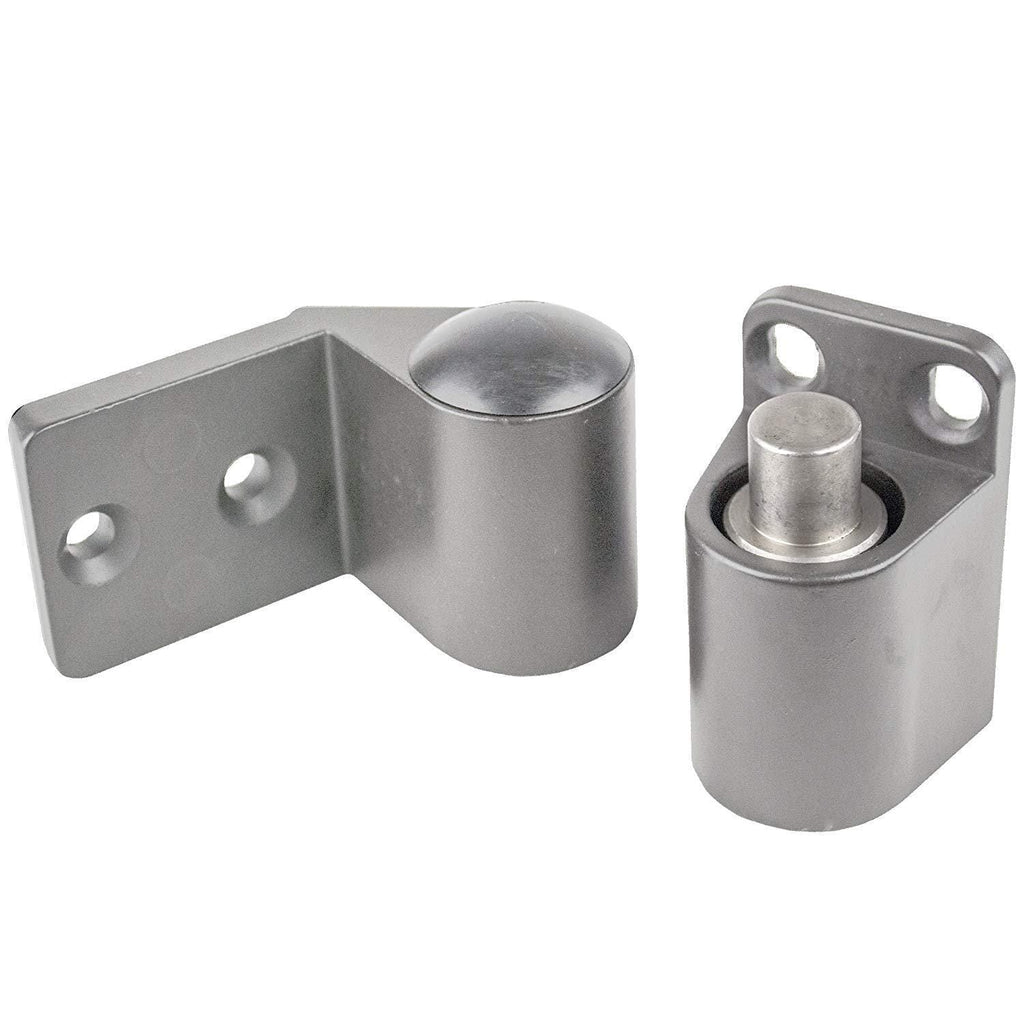 "Intermediate Pivot Door Hinges Kawneer Style - Offset for Aluminum Doors - Face Frame or 1/8"" Recessed Applications"