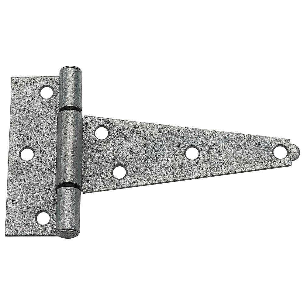 T Hinges - Heavy Duty - Galvanized - 4 to 8 Inches - 2 Pack