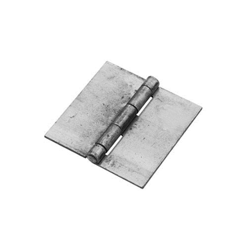 Weld On Butt Hinges - Bright Steel - 3.5 inches Square - 2 Pack