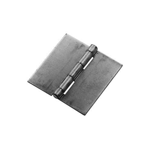 Weld On Butt Hinges - Bright Steel - 3 inches Square - 2 Pack