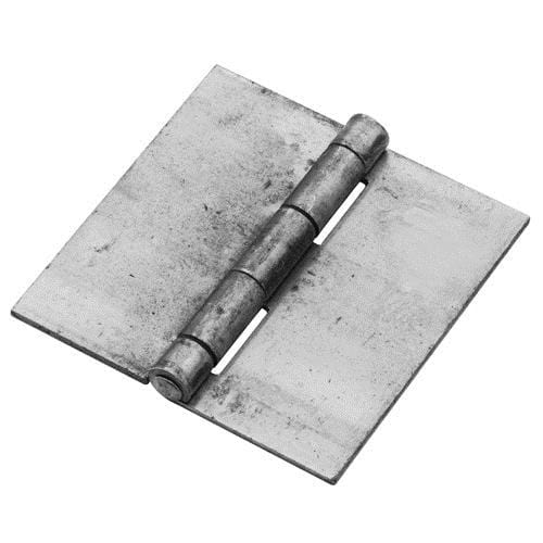 Weld On Butt Hinges - Bright Steel - 4 inches Square - 2 Pack