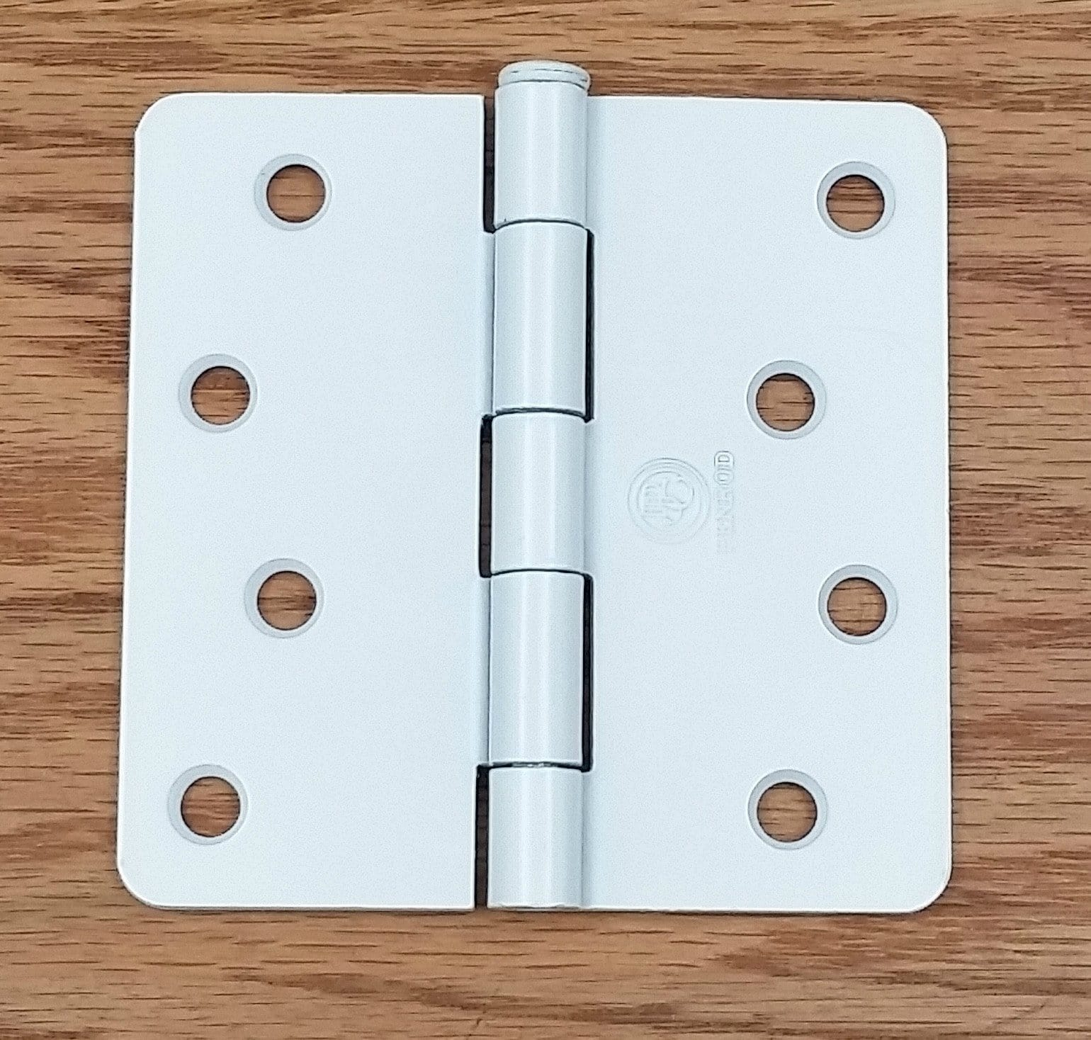 Residential Penrod Butt Hinges - 4 inch with 1/4 inch Radius Corner Plain Bearing- White Prime - 2 Pack