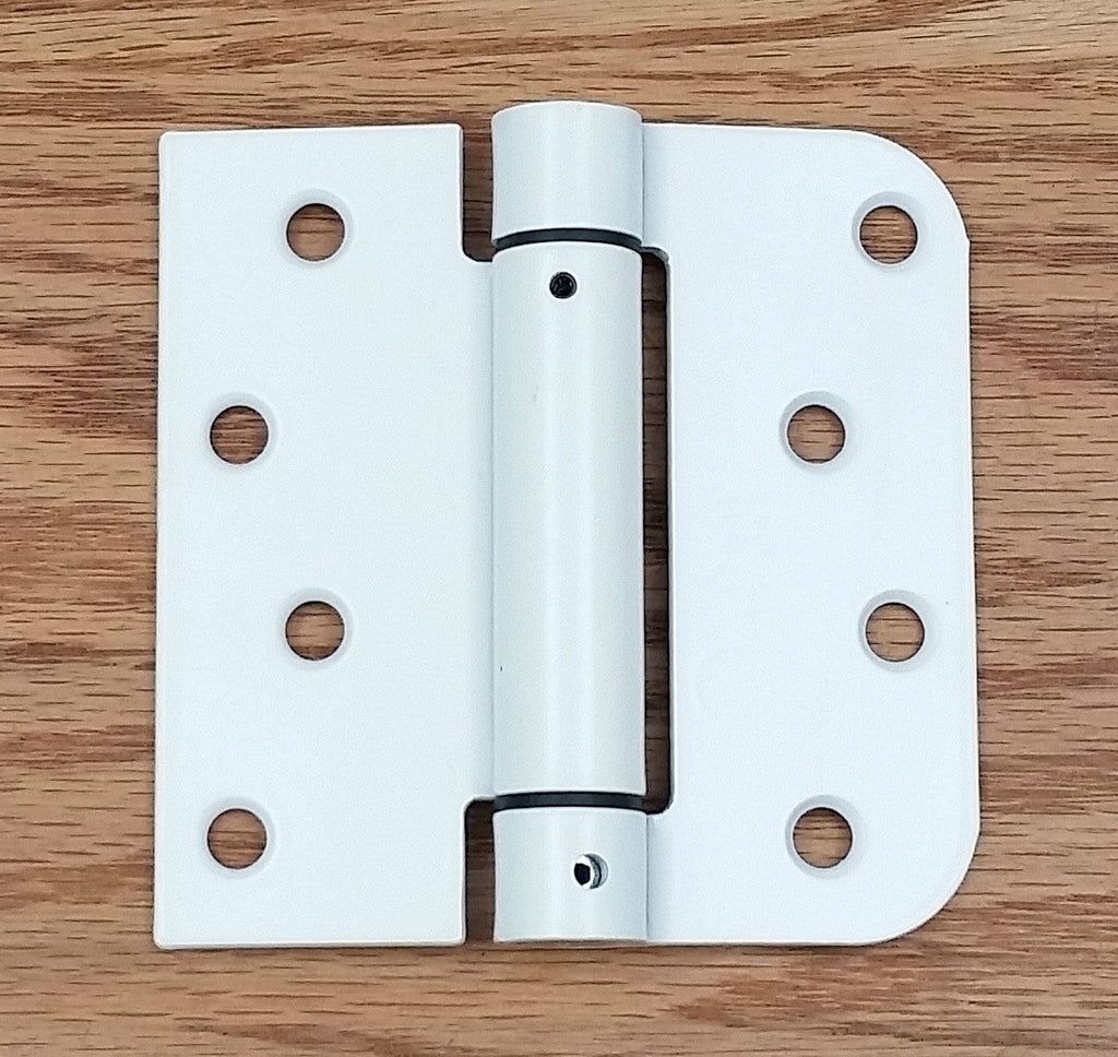 "Penrod Spring Hinges Self Closing 4"" with 5/8"" Square Radius - White Prime"