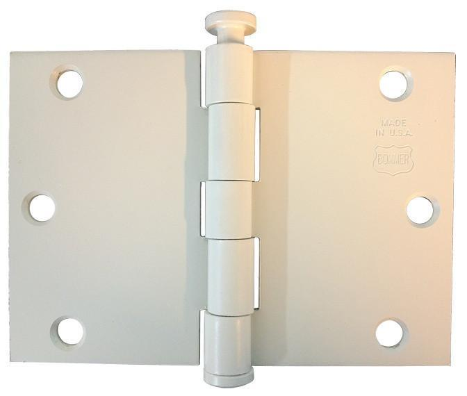 Wide Throw Hinges - 3.5 inch x 6 inch - Bommer - Multiple Finishes - Sold as Each - Wide Throw Hinges Primed for Painting / No / No - 2