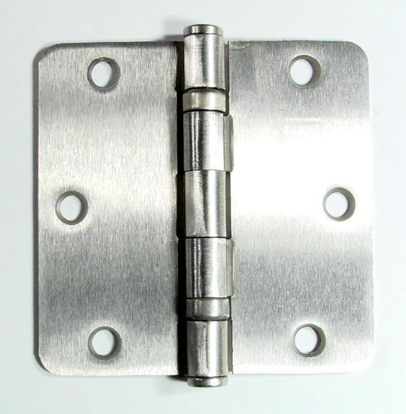 "Bulk Hinges 3 1/2"" Inch with 1/4"" radius Interior Ball Bearing - 50 Pack - Satin Nickel or Oil Rubbed Bronze"