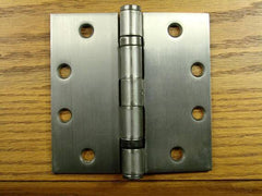 "4 1/2"" x 4 1/2"" with square corners Antique Nickel Commercial Ball Bearing Hinge - Sold in Pairs - Commercial Ball Bearing Hinges"