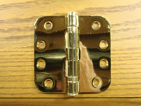 "4"" x 4"" with 5/8"" radius corners Bright Brass Commercial Ball Bearing Hinges - Sold in Pairs - Commercial Ball Bearing Hinges"