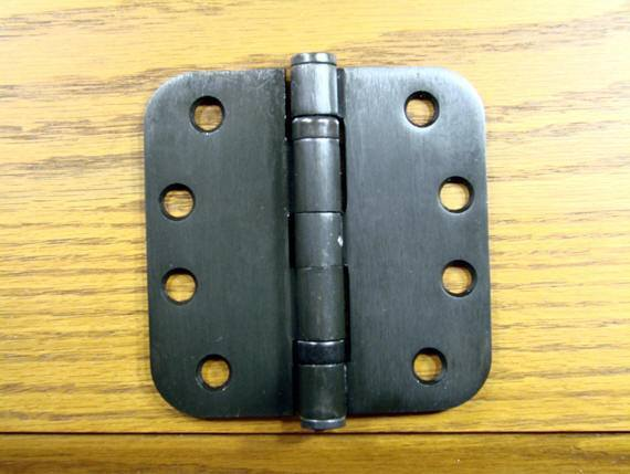 "4"" x 4"" with 5/8"" radius corners Oil Rubbed Bronze Commercial Ball Bearing Hinges - Sold in Pairs"