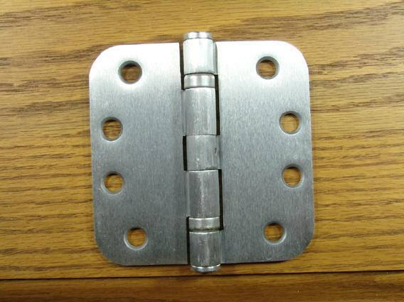 "4"" x 4"" with 5/8"" radius corners Satin Chrome Commercial Ball Bearing Hinge - Sold in Pairs"