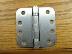 "4"" x 4"" with 5/8"" radius corners Satin Chrome Commercial Ball Bearing Hinge - Sold in Pairs - Commercial Ball Bearing Hinges"