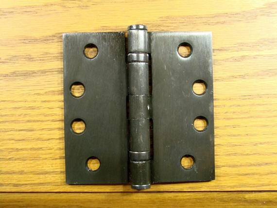 "4"" x 4"" with Square Corners Oil Rubbed Bronze Commercial Ball Bearing Hinge - Sold in Pairs - Commercial Ball Bearing Hinges"