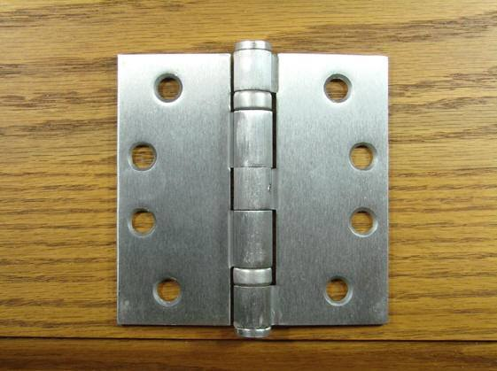 "4"" x 4"" with Square Corners Satin Chrome Commercial Ball Bearing Hinge - Sold in Pairs"