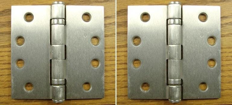 "Bulk Hinges - 4"" Square -  Commercial Ball Bearing - Satin Nickel or Oil Rubbed Bronze - 50 Hinges"