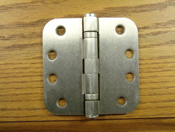 2 Pack 4 Inch with 5//8 Inch Radius Non Removable Pin Hinge Outlet Commercial Door Hinges Satin Nickel Ball Bearing