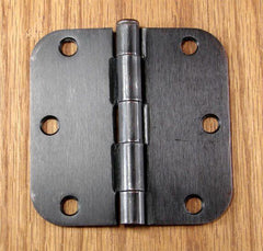 "Residential Door Hinges - Plain Bearing Oil Rubbed Bronze - Door Hinge  - 3.5"" x 3.5"" w 5/8"" Radius - Sold in Pairs - Plain Bearing Hinges"