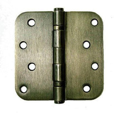 "4"" x 4"" with 5/8"" radius corners  Antique Brass Residential Ball Bearing Hinges - Sold in Pairs - Residential Ball Bearing Hinges"