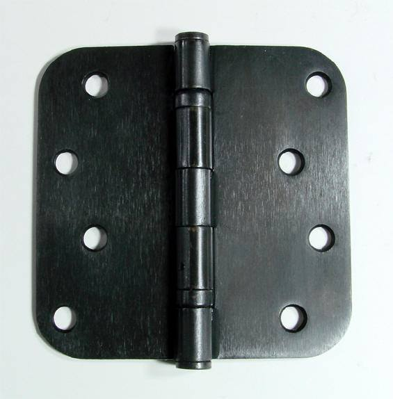 "4"" Inch with 5/8"" Inch radius Oil Rubbed Bronze Ball Bearing Door Hinges - 2 Pack"