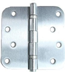 "4"" x 4"" with 5/8"" radius corners Satin Chrome Residential Ball Bearing Hinges - Sold in Pairs - Residential Ball Bearing Hinges"