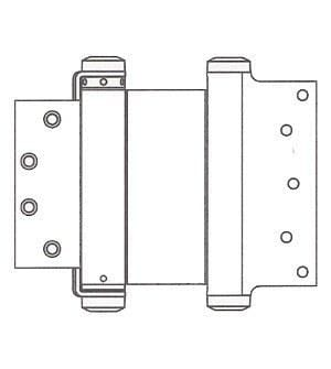 "Prime Coated - Bommer Double Acting Spring Hinges Multiple Sizes (3"" - 8"") - Single Hinge - Double Action Spring Hinges 8 inch x 4 1/4 inch - 2"