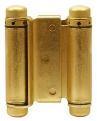 "Satin Brass-Bommer Double Acting Hinges Multiple Sizes (3"" - 8"") - Single Hinge - Double Action Spring Hinges 8 inch - 1"