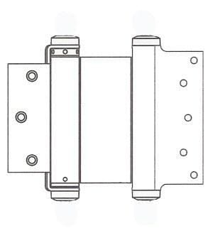"Satin Brass-Bommer Double Acting Hinges Multiple Sizes (3"" - 8"") - Single Hinge - Double Action Spring Hinges 8 inch x 4 1/4 inch - 2"