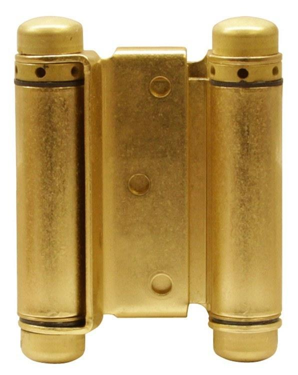 Satin Brass Bommer Double Acting Hinges Hingeoutlet