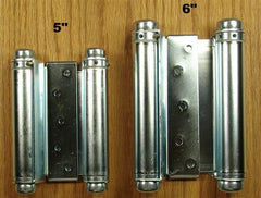 Zinc Adjustable Double Action Spring Hinges - 3 inches to 6 inches - Double Action Spring Hinges