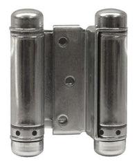 "Zinc - Bommer Double Action Saloon Door Hinges Multiple Sizes (3"" - 8"") - Single Hinge - Double Action Spring Hinges 8 inch - 1"