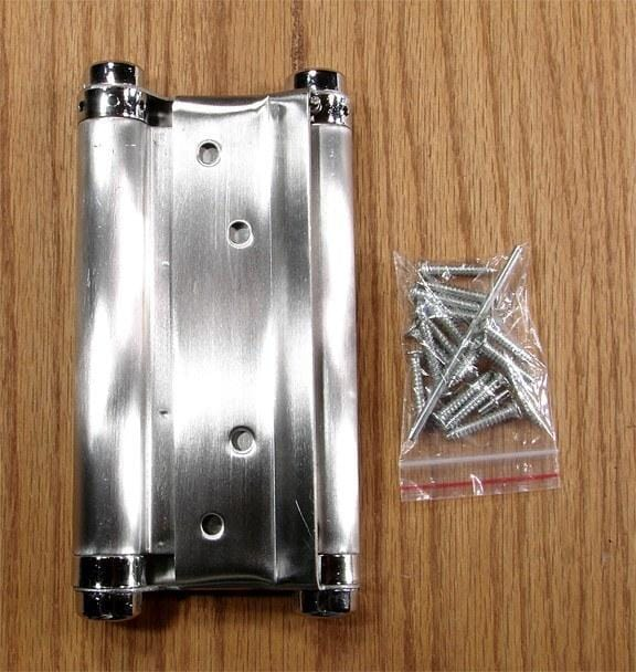 Stainless Steel Double Acting Spring Hinges - Single Hinge - Double Action Spring Hinges