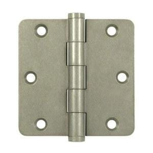 "3 1/2"" x 3 1/2"" with 1/4"" Radius Corners Plain Bearing Brass Hinges - Multiple Distressed Finishes - Sold in Pairs"