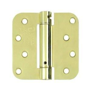 "4"" x 4"" Spring Hinges with 5/8"" radius corner Zinc Dichromate - Sold in Pairs - Residential Spring Hinges"