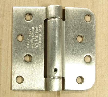 "4"" x 4"" Spring Hinges with square and 5/8"" radius corner - Multiple Finishes Available - Sold in Pairs"