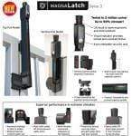 Safety Gate Latch - Top Pull - Black  ML3TPKA - Safety Gate Latches  - 3