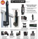 Safety Gate Latch - Vertical Pull - Black  ML3VPKA - Safety Gate Latches  - 3