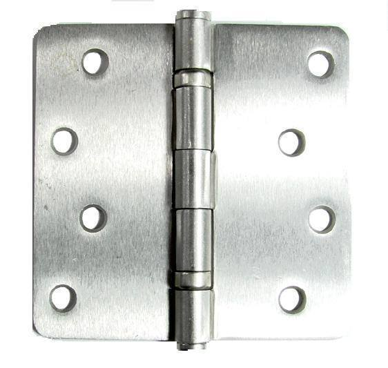 "Ball Bearing Door Hinges - 4"" with 1/4"" radius corners  - Multiple Finishes - 2 Pack"
