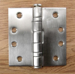 Stainless Steel Ball Bearing - Full Mortise Standard Weight - Multiple Sizes - Sold in Sets of 3 - Stainless Steel Hinges, Commercial Ball Bearing Hinges 3.5 inch x 3.5 inch hinges - 1