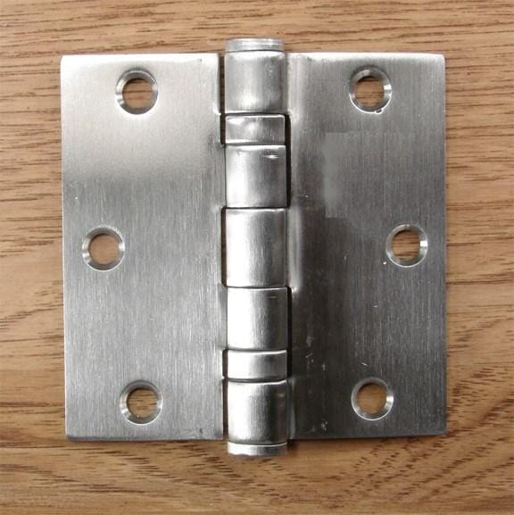 Stainless Steel Ball Bearing - Full Mortise Standard Weight - Multiple Sizes - Sold in Sets of 3 - Stainless Steel Hinges, Commercial Ball Bearing Hinges 5 inch x 5 inch hinges - 9