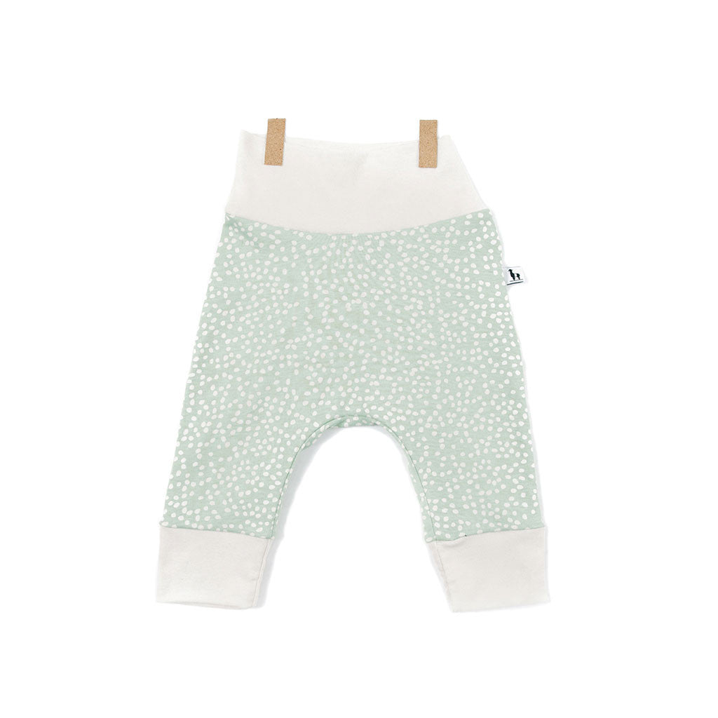 pebbles in soft mint unisex baby pants
