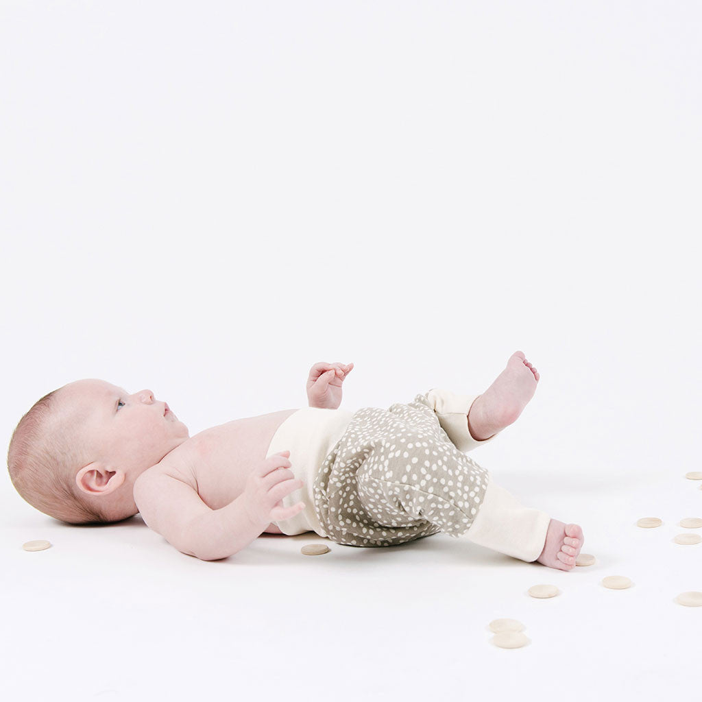 baby in sanbox organic cotton pants